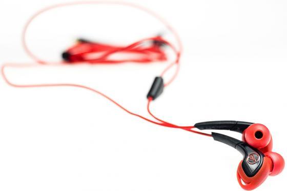 Наушники AUDIO-TECHNICA ATH-SPORT2 RD вставные наушники audio technica ath sport2 rd вставные