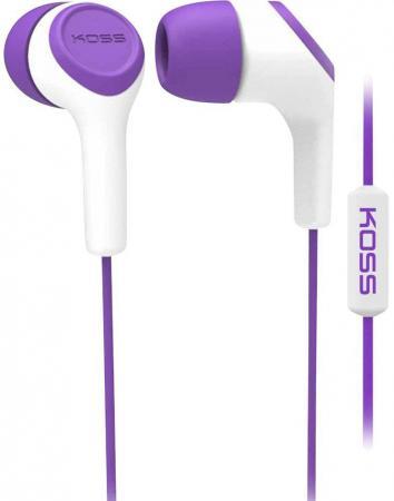 Наушники KOSS KEB15i Violet (микрофон,вставные,1,2м) наушники koss keb15i azure