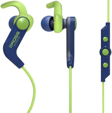 цена на Наушники KOSS BT190iB blue , вставные,спорт (Bluetooth, с микрофоном, 4 часа)