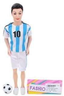 Кукла-футболист 29 см, 1 аксесс. кукла наша игрушка кукла футболист 29 см 104 6a