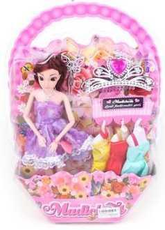 Кукла Эмма с доп.платьями, 29 см, 6 аксесс., в ассорт. кукла yako m6579 6