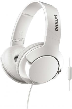 Гарнитура Philips SHL3175WT/00 белый Проводные с микрофоном / Полноразмерные / Белый / 8 Гц - 23.5 кГц / 106 дБ / Одностороннее / Mini-jack / 3.5 мм гарнитура philips she3855gd 00 золотой