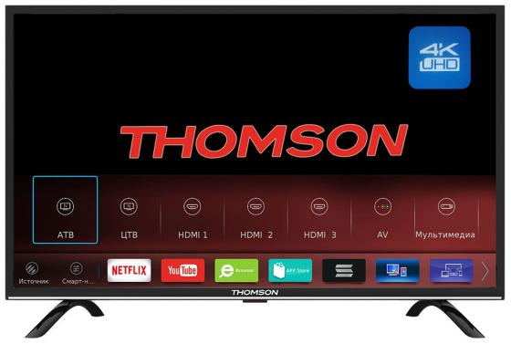 Телевизор LED 55 Thomson T55USL5210 Черный, UHD, 4K/ Smart TV/HDR/DVB-S2/T2/C/CI+ /Linux with Zeasn, PPI 1000 4k uhd телевизор lg 49 uj 740 v