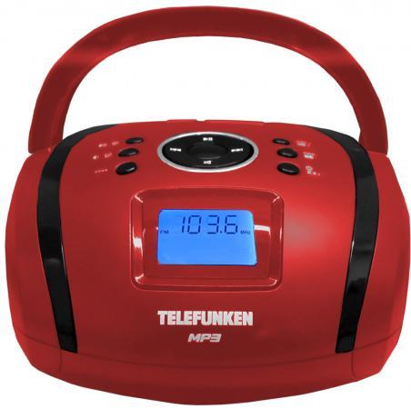 лучшая цена Магнитола Telefunken TF-SRP3449(красный с черным)