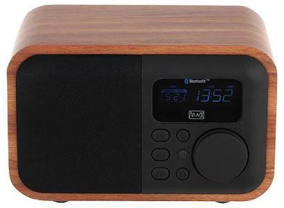 Радиоприемник MAX MR-332 Bluetooth, FM радио, MP3/WMA с USB/microSD,Li-ion аккумулятор, Время работы более 8 часов, цвет Brown Wood/Black stw88n65m5 discrete semiconductor mr li
