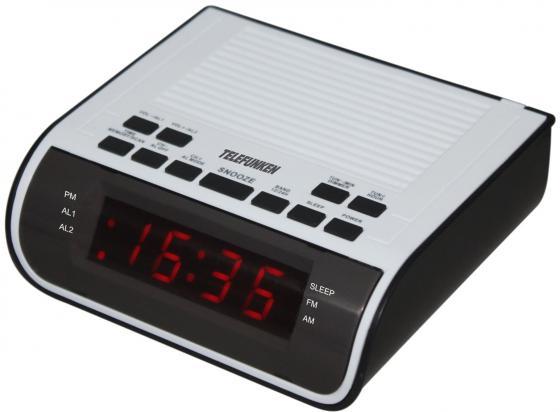 Часы с радиоприемником TF-1591(черный\\белый с красным) цена и фото