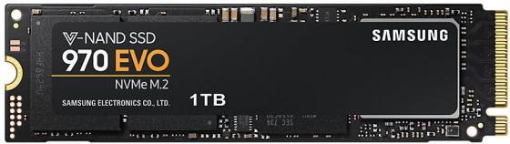 Твердотельный накопитель SSD M.2 NVMe 1TB Samsung 970 EVO (R3400/W2500Mb/, -NAND -bit MLC, Phoenix, PCIe, 2280) (MZ-V7E1T0BW)