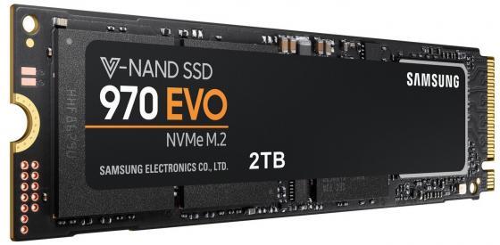 Твердотельный накопитель SSD M.2 NVMe 2TB Samsung 970 EVO (R3500/W2500Mb/, -NAND -bit MLC, Phoenix, PCIe, 2280) (MZ-V7E2T0BW)