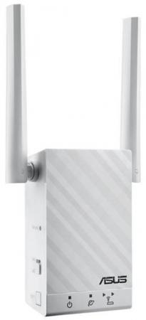 Усилитель сигнала ASUS RP-AC55 802.11nac 1167Mbps 5 ГГц 2.4 ГГц 1xLAN LAN белый шлюз voip grandstream ht801 1xfxs 1xlan 10 100мб с