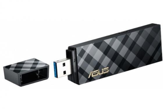 Беспроводная сетевая карта ASUS USB-AC54 Двухдиапазонный беспроводной USB-адаптер стандарта 802.11a/b/g/n/ac USB 3.0 erich krause угольник clear 60 градусов 225 мм