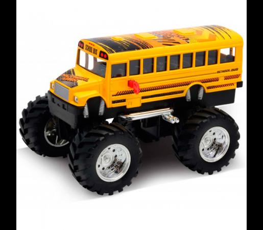 Автомобиль Welly School Bus Big Wheel Monster 1:34-39 желтый машинка welly toyota fj cruiser big wheel monster 47003s