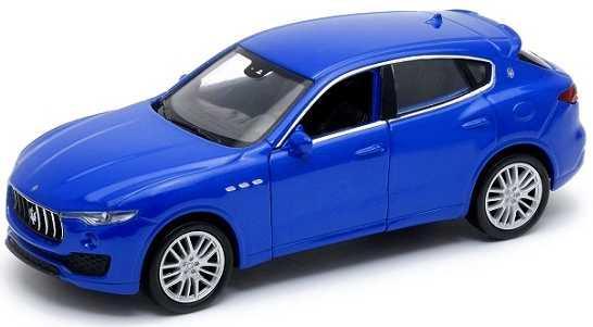 Автомобиль Welly Maserati Levante 1:38 синий 43739 автомобильный брелок maserati 920001962