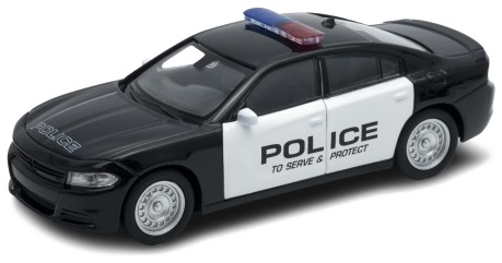 Автомобиль Welly Police 1:38 черный 43742P