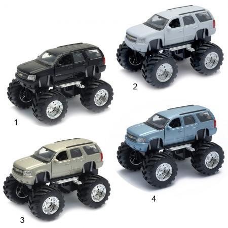Игрушка модель машины 1:34-39 Chevrolet Tahoe Big Wheel Monster игрушка welly модель машины 134 39 chevrolet tahoe big wheel 47002