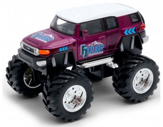 Автомобиль Welly Toyota FJ Cruiser Big Wheel Monster 1:38 бордовый 47003S машинка welly toyota fj cruiser big wheel monster 47003s
