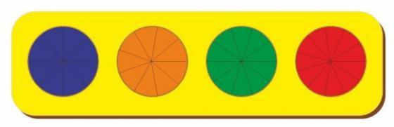 Рамка вкладыш Дроби, Никитин, 4 круга, ур.3, в асс-те рамка вкладыш woodland 011103 ёжик