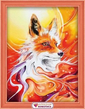Алмазная живопись Огненная лисица 30*40