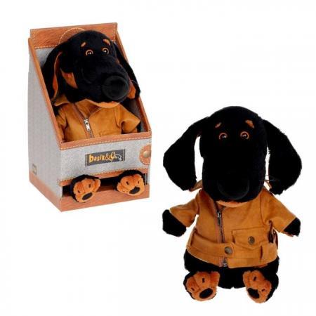 Мягкая игрушка собака Зайка Ми Ваксон в косухе 25 см искусственный мех текстиль пластмасса наполнитель