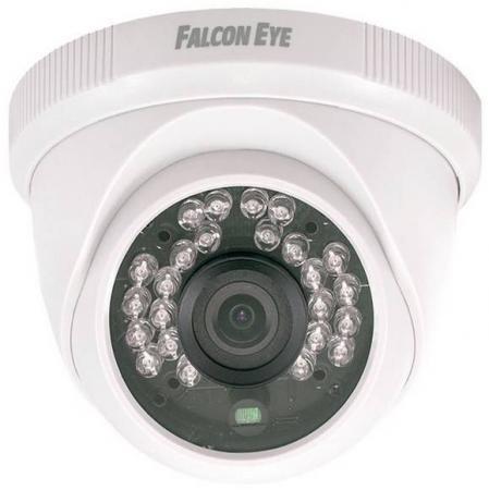 IP-камера Falcon Eye FE-IPC-DPL200P 2Мп купольная IP камера; Матрица 1/3 2 Mega pixels CMOS; 1920х1080P*25к/с; Дальность ИК подсветки 10-15м; Объекти комплект ip видеонаблюдения falcon eye fe home kit ip камера и 2 датчика двери и датчик дымаip видеокамера объектив 2 8мм матрица 1 4 cmos разрешен