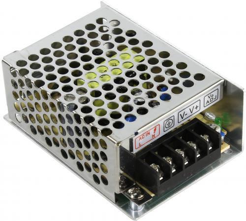 Блок питания ORIENT PB-0205 Импульсный блок питания, AC 100-240V/ DC 12V, 2.0A, стабилизированный, защита от КЗ и перегрузки, ручная рег-ка Uвых, винт блок питания orient pb 40u3 output 12v dc 20a стабилизированный защита от кз и перегрузки imax 21 5a регулятор напряжения 3 выхода металличес