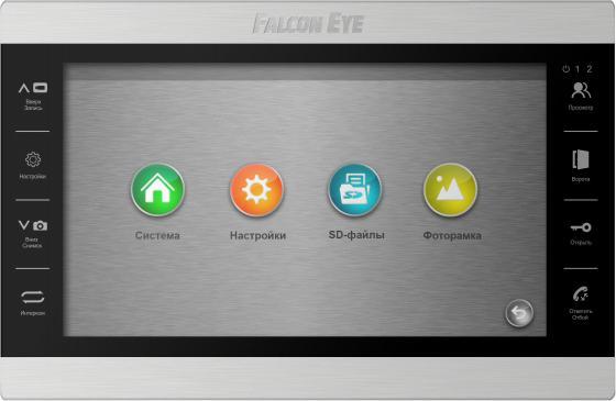 Видеодомофон Falcon Eye FE-101 ATLAS (Black) AHD дисплей 10 TFT; сенсорные кнопки; подключение до 2-х вызывных панелей и до 2-х видеокамер; адресный видеодомофон falcon eye fe 70 aries white дисплей 7 tft сенсорный экран подключение до 2 х вызывных панелей и до 2 х видеокамер интерком графи