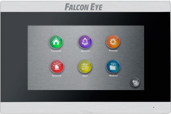 Видеодомофон Falcon Eye FE-70 ARIES (Black) дисплей 7 TFT; сенсорный экран; подключение до 2-х вызывных панелей и до 2-х видеокамер; интерком; графи видеодомофон tantos prime white цв tft lcd 7 сенсорные кнопки джойстик hands free 2 вх для вызывных панелей 2 вх для видеокамер до 4шт в