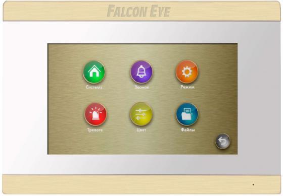 Видеодомофон Falcon Eye FE-70 ARIES (White) дисплей 7 TFT; сенсорный экран; подключение до 2-х вызывных панелей и до 2-х видеокамер; интерком; графи видеодомофон kenwei kw e705fc white