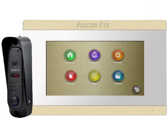 """Комплект видеодомофона Falcon FE-ARIES white + FE311A Видеодомофон: дисплей 7"""" TFT; сенсорный экран; подключение до 2-х вызывных панелей и до 2-х вид цена"""