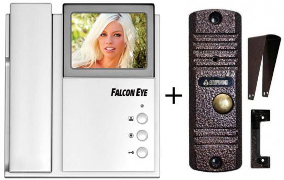 Комплект видеодомофона Falcon Eye FE-4CHP2 + AVC-305 (PAL) Медь Цветной домофон на 2 вызывные панели и доп. трубку интеркома + панель AVC-305 (PAL) Ме