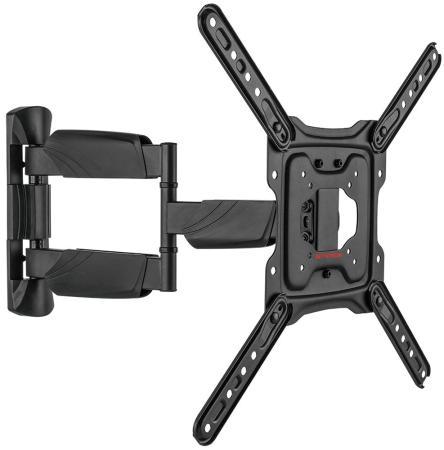 Фото - Кронштейн ARM Media COBRA-40 black, для LED/LCD TV 22-65, max 35 кг, настенный, 4 ст свободы, max VESA 400x400 мм. кронштейн фиксированный arm media steel 3 new 22 65 до 50кг vesa до 400x400