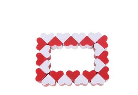 Игра-головоломка Наша Игрушка Змейка логическая Сердечки от 3 лет дети 3d cube игра головоломка twist игрушка партия путешествия ребенка creative decompression magic box головоломка подарок