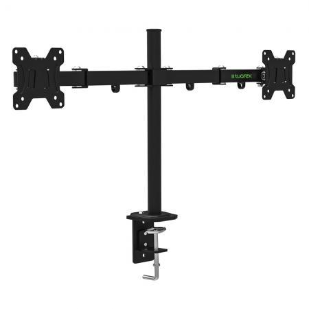 Фото - Кронштейн для мониторов Tuarex ALTA-503, для 2xLCD мониторов 15-32, настольный, VESA 100х100, max 2*8 кг, Черный кронштейн