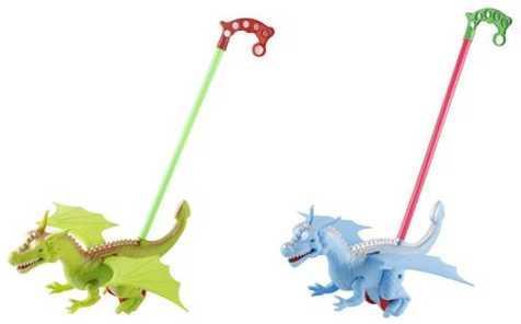 Каталка на палочке Наша Игрушка Динозавр пластик от 1 года цвет в ассортименте 198-10 каталка детская наша игрушка барабан с шариком в ассортименте