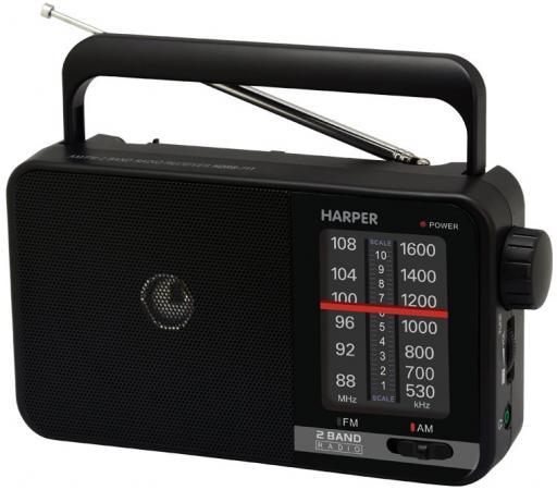 Радиоприемник HARPER HDRS-711 Черный, 3Вт, Выход на наушники цена в Москве и Питере