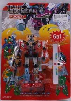 Робот-трансформер PLAYSMART  КОМБАТ,  САМОЛЕТОМ, 6-В-1 G017-H21063