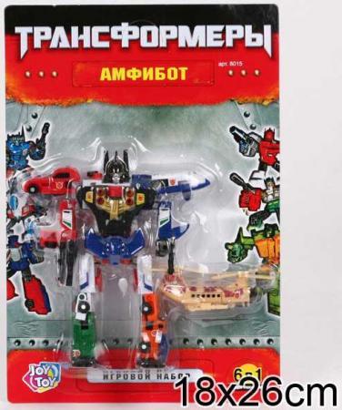 Робот-трансформер PLAYSMART РОБОТ АМФИБОТ 6-В-1 G017-H21061 робот трансформер playsmart робот истребитель 5 в 1 g017 h21047