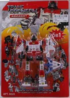 Робот-трансформер PLAYSMART РОБОТ АВИАБОТ 5-В-1 G017-H21066 робот трансформер playsmart робот истребитель 5 в 1 g017 h21047