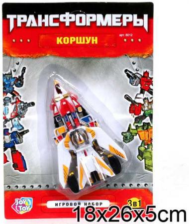 Робот-трансформер PLAYSMART РОБОТ КОРШУН 3-В-1 G017-H21058 игрушка joy toy коршун 3 в 1 58364