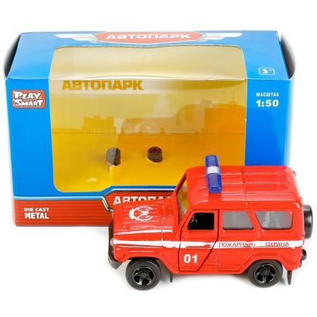 Пожарная машина Play Smart 6401D 4 шт красный X600-H09017 машина инерционная play smart пожарная 1 54