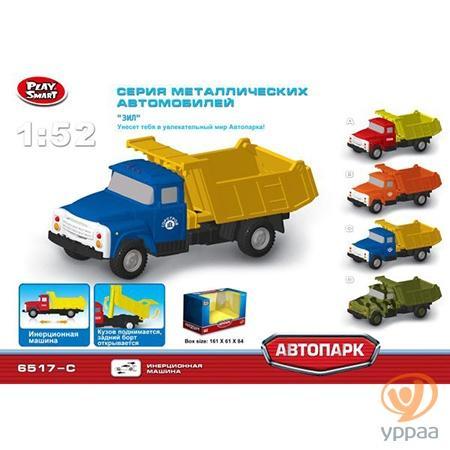 Грузовик Play Smart ГРУЗОВИК, ПОДНИМАЕТСЯ КУЗОВ 6517/6518/6520/6517 1:52 цвет в ассортименте X600-H09121 грузовик play smart грузовик горстрой 1 52 красный