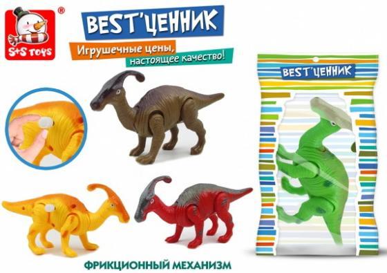 ИГРУШКА ЗАВОДНАЯ ДИНОЗАВР В АССОРТ. В ПАК. (РУСС. УП.) 14*3*25,5СМ в кор.2*108шт каталка s s toys динозавр 0360 разноцветный