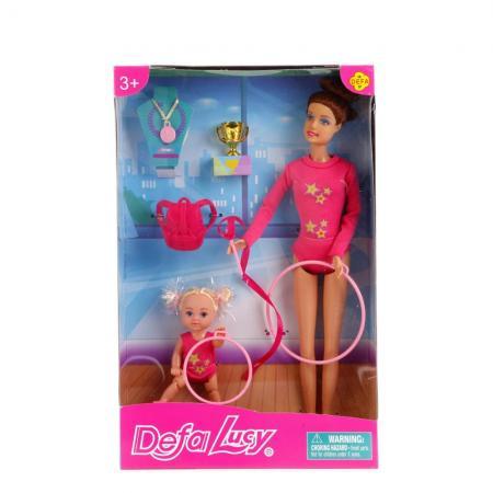Набор кукол DEFA LUCY Гимнастки 32 см в ассортименте defa lucy набор из 2 х кукол в зоопарке 11 см 14 см defa lucy