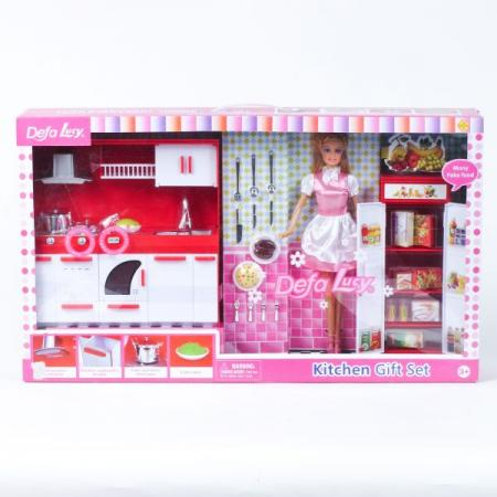 Кукла DEFA LUCY Кукла с мебелью 35 см 8085 кукла defa lucy кукла с набором одежды 35 см 8266