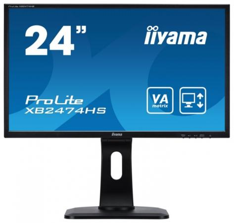 Монитор 24 iiYama ProLite XB2474HS-B1 черный VA 1920x1080 250 cd/m^2 4 ms HDMI DisplayPort VGA Аудио монитор 27 samsung c27f591fdi серебристый va 1920x1080 250 cd m^2 4 ms hdmi displayport vga аудио