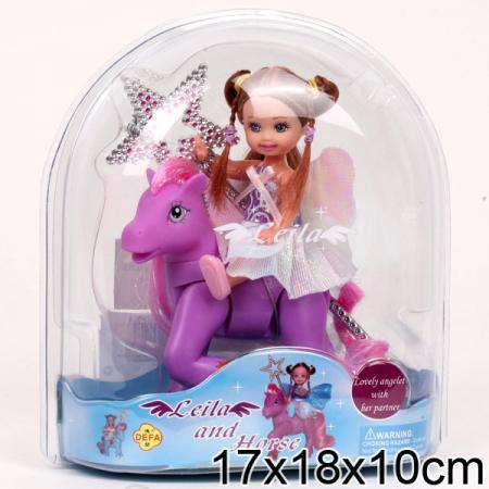 Кукла DEFA LUCY КУКЛА С ЛОШАДКОЙ 18 см 61008A кукла yako m6579 6