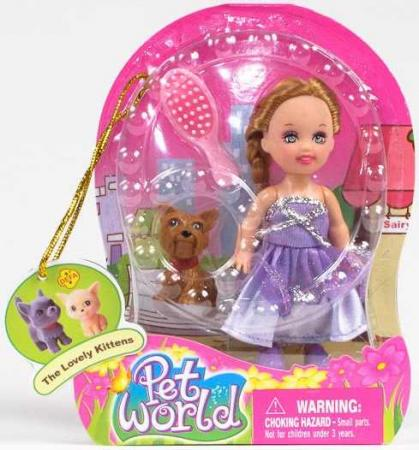 Кукла DEFA LUCY КУКЛА 10СМ С СОБАКОЙ 10 см 267-DOLL кукла defa lucy модница 29 см 8136 в ассортименте