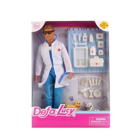 купить Кукла DEFA LUCY ДОКТОР С 2-МЯ СОБАЧКАМИ 33 см 8347-DEFA дешево
