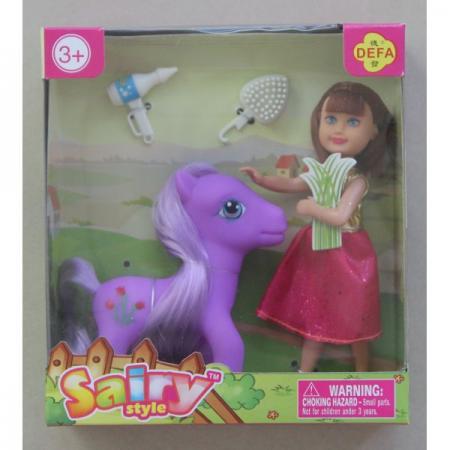 Купить Кукла DEFA LUCY Малышка-кукла с лошадкой 15 см 8303A, Классические куклы и пупсы