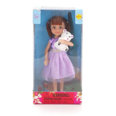 Кукла DEFA LUCY КУКЛА С МИШКОЙ 15 см 8280