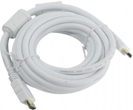 Фото - Кабель HDMI 5м AOpen ACG711DW-5M круглый белый кабель hdmi aopen acg711d 7 5m круглый черный